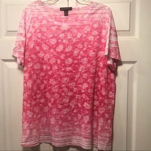 INC Woman Pink/White tee size 2X